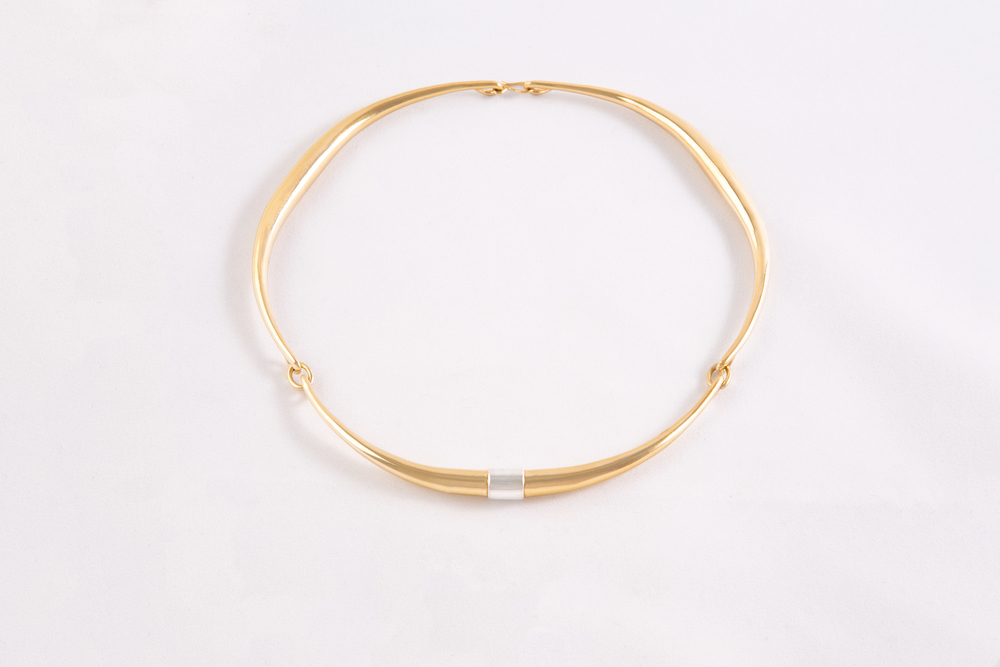 Corne Collier Torc Triple Or