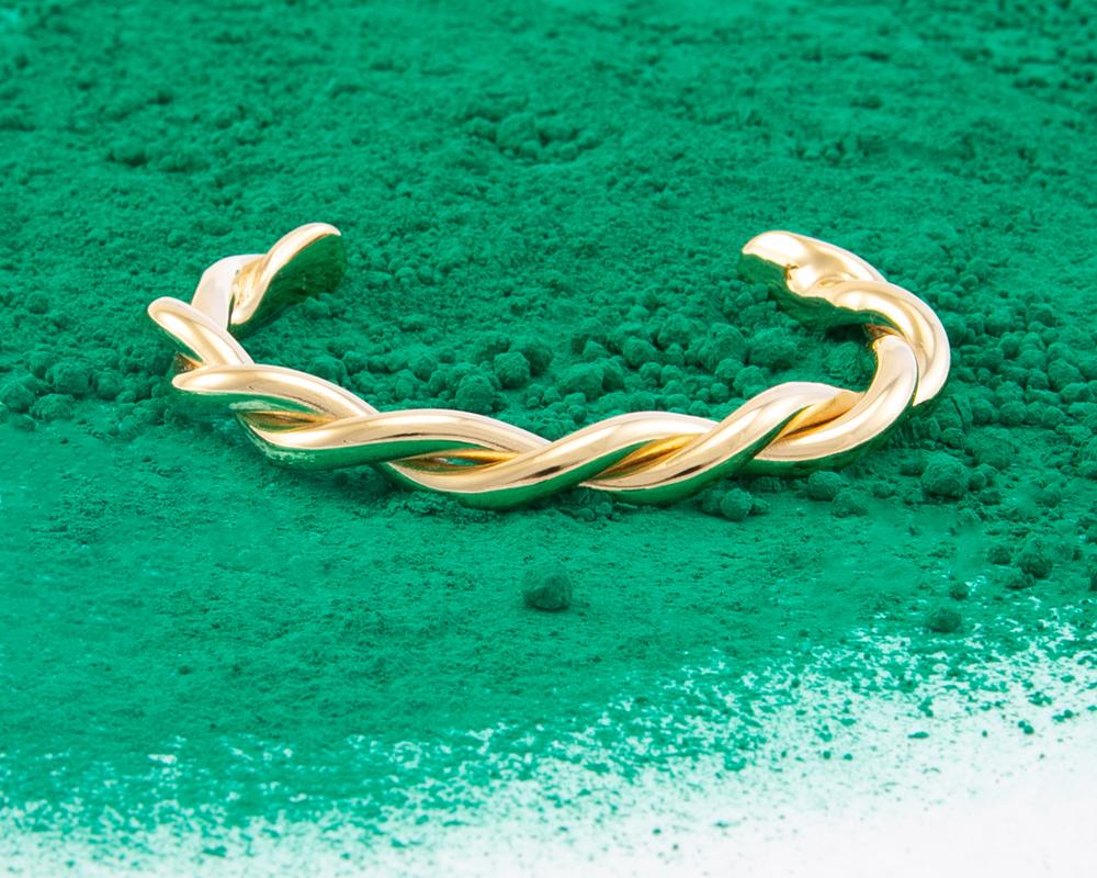 Torsade Bracelet Or